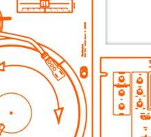 vinyl music Sticker