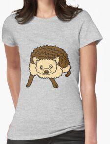 comic cartoon süßer kleiner niedlicher igel  Womens Fitted T-Shirt