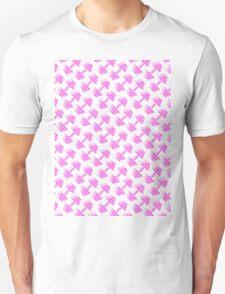 Dumbbellicious PINK GREY Unisex T-Shirt