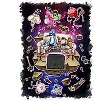 Regular Show Lost in Universe Photographic Print