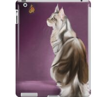 Cat and Butterfly iPad Case/Skin