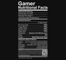 Gamer Nutritional Facts Baby Tee