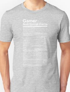Gamer Nutritional Facts Unisex T-Shirt