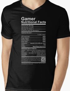 Gamer Nutritional Facts Mens V-Neck T-Shirt