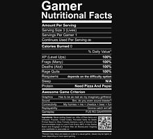 Gamer Nutritional Facts Mens V-Neck T-Shirt
