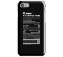 Gamer Nutritional Facts iPhone Case/Skin