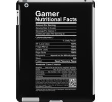 Gamer Nutritional Facts iPad Case/Skin