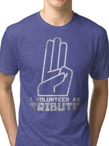 I Volunteer As Tribute Tri-blend T-Shirt