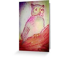 WHITE OWL Greeting Card