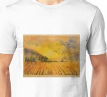 Ploughed field, Tuscany. Watercolour. 32x24cm. Framed. 2010 Unisex T-Shirt