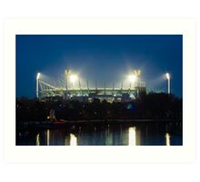 Melbourne Cricket Ground at dusk Art Print