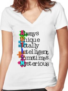 Autism Meaning Women's Fitted V-Neck T-Shirt