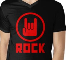 Rock Mens V-Neck T-Shirt