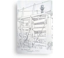 Old sale and stockyard, Kensington. Pen sketch. 1994Ⓒ Canvas Print