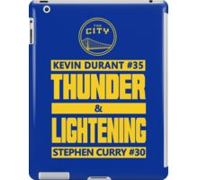 Durant Thunder and Curry Lightening iPad Case/Skin