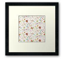 Coloured Floral Pattern Background Framed Print