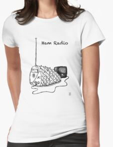 Ham Radio (B&W) Womens Fitted T-Shirt
