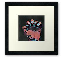 Clutching hand B/P K1 Framed Print