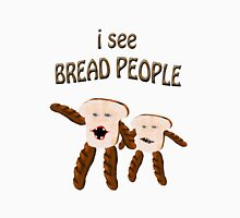 i see bread people Women's Fitted V-Neck T-Shirt