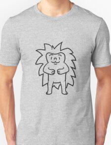 comic cartoon stehender süßer kleiner niedlicher igel  Unisex T-Shirt