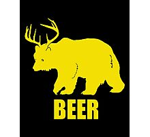 Bear Deer Beer Photographic Print