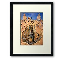 Vertigo on La Pedrera - Barcelona Framed Print