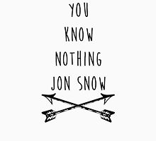 You Know Nothing Jon Snow Crossed Swords Game Of Thrones Unisex T-Shirt