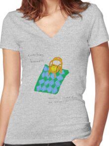 courtney barnett Women's Fitted V-Neck T-Shirt