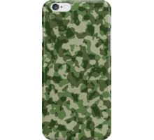 Green Military Camouflage iPhone Case/Skin