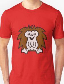 comic cartoon sitzender süßer kleiner niedlicher igel  Unisex T-Shirt