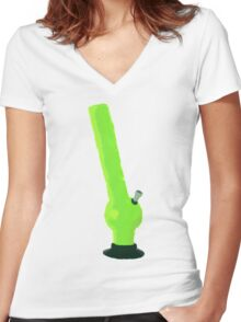 For tobacco use only Women's Fitted V-Neck T-Shirt