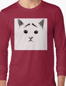 Cat with eyebrows Long Sleeve T-Shirt