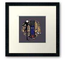 Tardis Wood Jack Framed Print