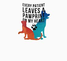 Every patient leaves a pawprint on my heart Unisex T-Shirt