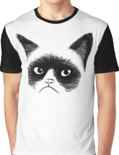 Angry Cat Graphic T-Shirt