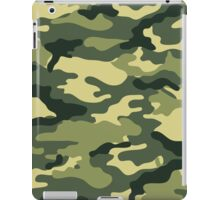 Olive Green Military Camouflage iPad Case/Skin