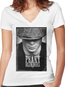 peaky blinders Women's Fitted V-Neck T-Shirt