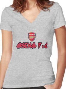 ARSENAL FOOTBALL CLUB Women's Fitted V-Neck T-Shirt