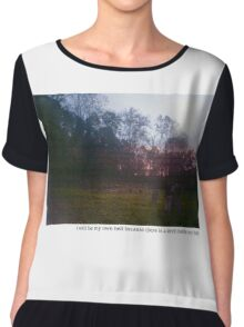 Teen suicide i will be my own hell  Chiffon Top