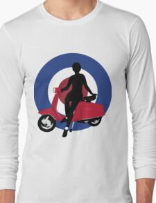Sixties scooter girl  Long Sleeve T-Shirt