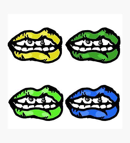 Punk Lips Photographic Print