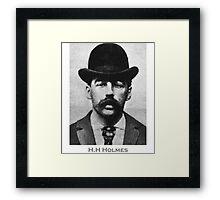 H.H Holmes Serial Killer Mugshot Framed Print