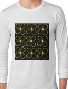 Black and yellow flowers  Long Sleeve T-Shirt