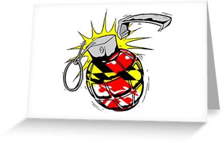 Maryland Flag Grenade by JoeyHawkins