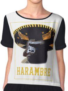 Harambre - Hombre Harambe Chiffon Top