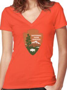 National Park Service logo Women's Fitted V-Neck T-Shirt