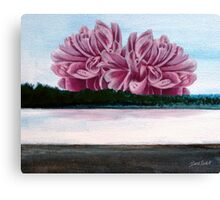 Lake Peony Canvas Print