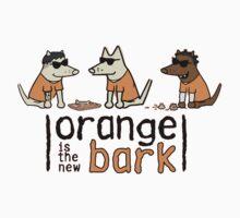 Orange Is The New Bark One Piece - Short Sleeve