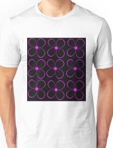 Black and purple flower Unisex T-Shirt
