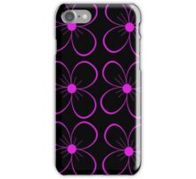 Black and purple flower iPhone Case/Skin